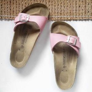 Birkenstock Adjustable Single Strap Pink Sandal 36